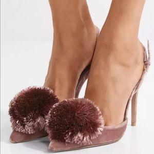 """77094648f75 Aquazzura Shoes - Aquazzura """"Powder Puff"""" Slingback Pump Pink Velvet"""